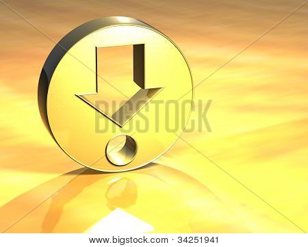 3D Find Point Gold Sign