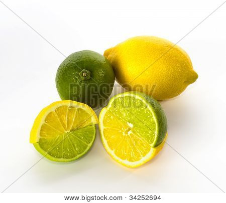 Swapped Lemon And Lime Halves