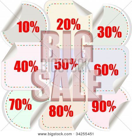Big Sale Background With Shopping Banner Pattern
