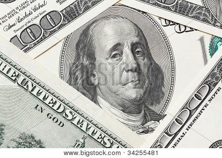 Saddened Franklin Cry On The Hundred Dollar Bill