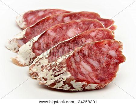 Slices of Salchichon