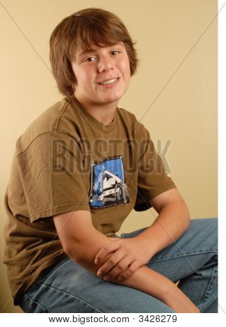 Happy Young Teen Boy