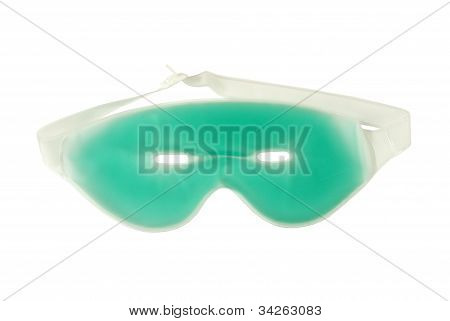 green gel eye mask