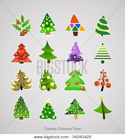 Christmas Tree Icon. Illustration Vector Xmas Set