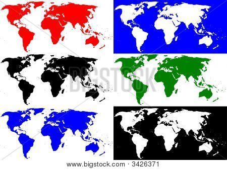 6 World Maps