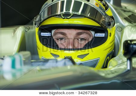 VALENCIA, SPAIN - JUNE 23: Nico Rosberg in the Formula 1 Grand Prix of Europe, Valencia Street Circuit. Spain on June 23, 2012