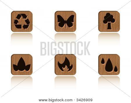 Baldosas de madera de la ecología