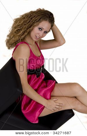 Young Woman In Pinkish Dress