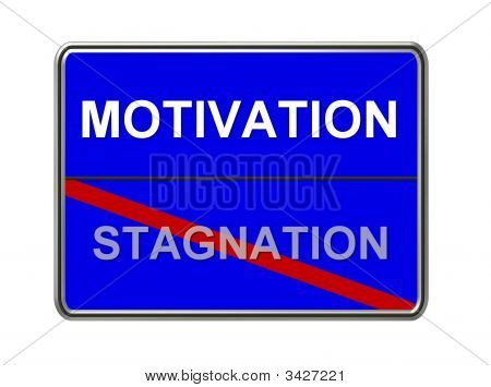 Motivation Stagnation Blue