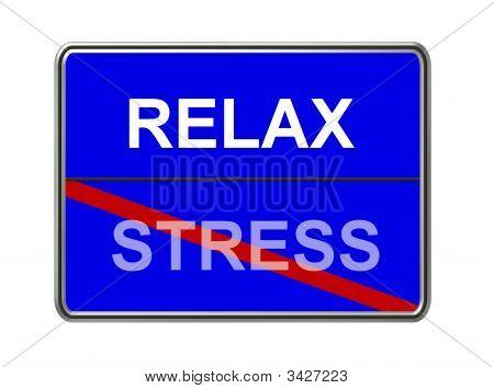 Relax Stress Blue