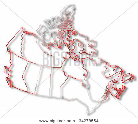 Map Of Canada, Nova Scotia Highlighted
