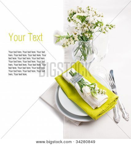 Festive Table Setting Template