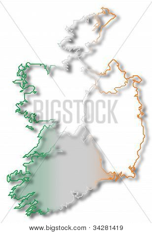 Map Of Ireland, Munster Highlighted