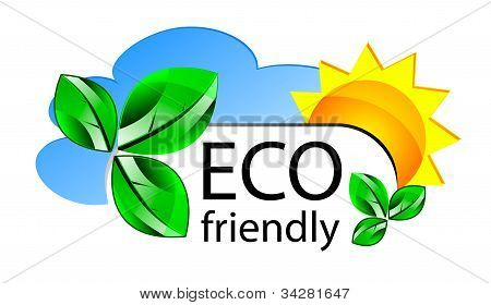 Eco Friendly web icono o Concepta