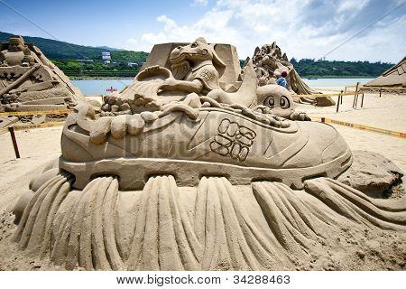 Dragon Fairy Sand Sculpture
