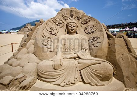 Buddha Sand Sculpture