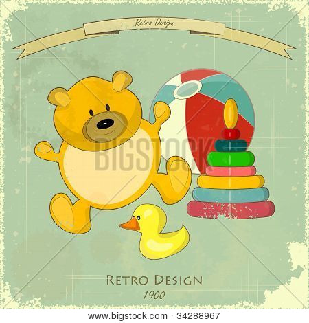 Vintage Design Baby Card