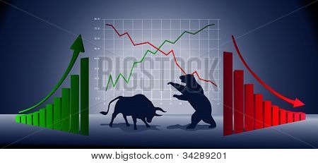 Business chart illustration