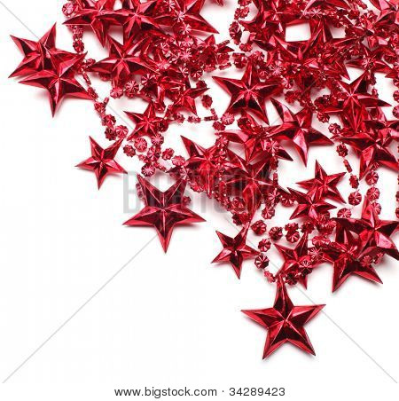 background with red stars