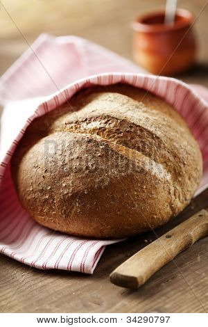rustic,homemade,fresh wholegrain bread