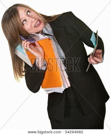 Multi-tasking Business Lady
