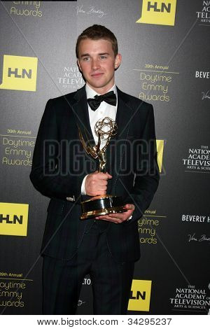 LOS ANGELES - JUN 23:  Chandler Massey in the Press Room of the 2012 Daytime Emmy Awards at Beverly Hills Hotel on June 23, 2012 in Beverly Hills, CA