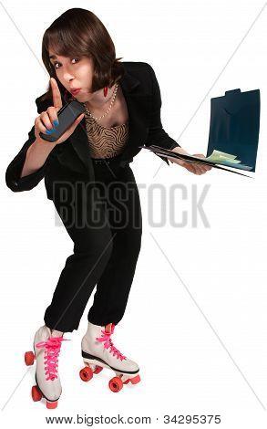Businesswoman On Skates