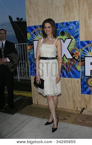 SANTA MONICA, CA - JUL 23: Emily Deschanel Fox Summer TCA Press Tour All Star Party at the Santa Monica Pier, Santa Monica, California on July 23, 2007