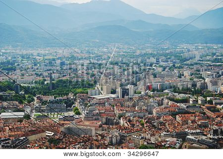 Grenoble City From Above.