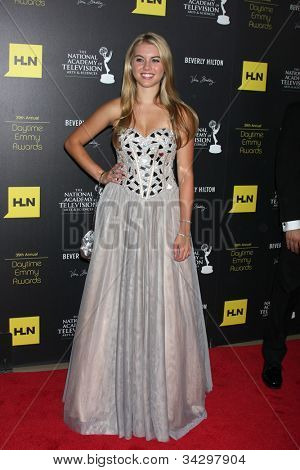 LOS ANGELES - JUN 23:  Lindsay Bushman arrives at the 2012 Daytime Emmy Awards at Beverly Hilton Hotel on June 23, 2012 in Beverly Hills, CA