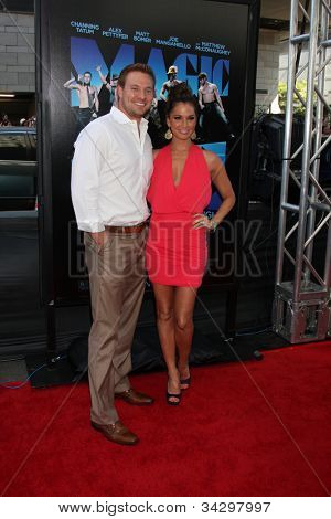 LOS ANGELES - JUN 24:  Tye Strickland, Melissa Rycroft arrives at the