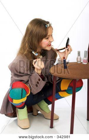 Funny Fashionable Girl.