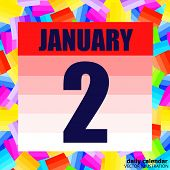 January 2 Icon. For Planning Important Day. Banner For Holidays And Special Days. January 2. Vector  poster