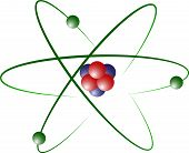 stock photo of neutrons  - Atom Model of Lithium with Protons - JPG