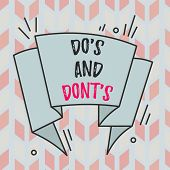 Text Sign Showing Do S And Don Ts. Conceptual Photo Rules Or Customs Concerning Some Activity Or Act poster