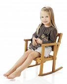 foto of cute little girl  - A pretty - JPG