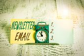 Conceptual Hand Writing Showing Newsletter Email. Business Photo Showcasing Email Sent To Subscriber poster