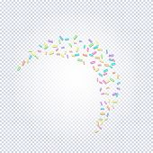 Sprinkle With Grains Of Desserts. Abstract Pattern With Sprinkles Grainy On A Transparent Background poster