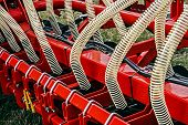 picture of cultivator-harrow  - Equipment for agriculture presented to an agricultural exhibition - JPG