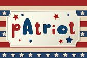 Patriot. United States Of America Independence Day Greeting Card. American Patriotic Design. Hand Dr poster