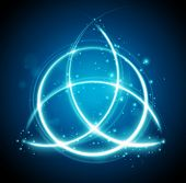 foto of rune  - magic background celtic knot shape sign  - JPG