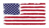 Stars and stripes. Grunge version of American flag with 50 stars and