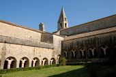 Medieval Cloister In France poster