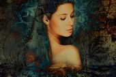 stock photo of muse  - sensual fantasy woman portrait - JPG