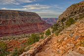 View Of Hermit Creek Canyon In The Grand Canyon Near Sundown From The Hermit Trail. poster