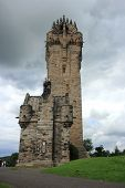 image of william wallace  - The Wallace Monument on Abbey Craig Stirling a memorial to William Wallace - Braveheart