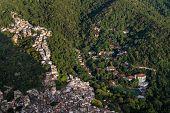 Aerial View Over The Favela Of Rocinha And An Expensive School, Of The Inequality Of Rio De Janeiro. poster