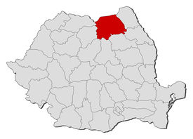 foto of suceava  - Political map of Romania with the several counties where Suceava is highlighted - JPG