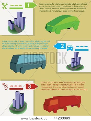 Cars infographics or brochure design