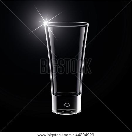Vector Empty Glass on black